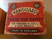 Vintage Vanguard 4A staples - full box of 5000