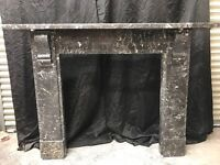 Antique St Anne Marble Victorian Fireplace