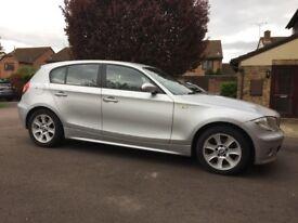 2005 (05 Reg) Silver BMW 1-Series 116i SE Hatchback. Petrol. Manual Transmission