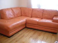 Orange Leather Sofa Sofas Armchairs Couches Suites