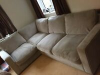 Large Corner Sofa and Snuggle Chair