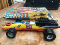 Formula one tin plate toy