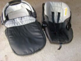 Matching Baby Car Seat and Carry Cot