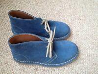 Unisex children's lace up suede ankle boots European size 32 (UK 13)
