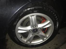 Alloy wheels and winter tyres