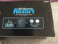 Wii sports resort console and wifi fit plus