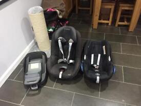 Maxi cosi car seat set