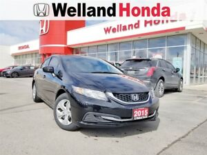 2015 Honda Civic LX - BRAND NEW TIRES! BRAKE SERVICE! ONE OWNER.