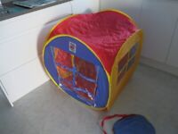 Ninja Pop Up Play House..packs away into a very small bag