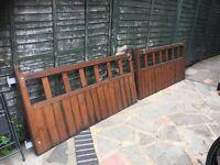 wooden drive way gates/garden