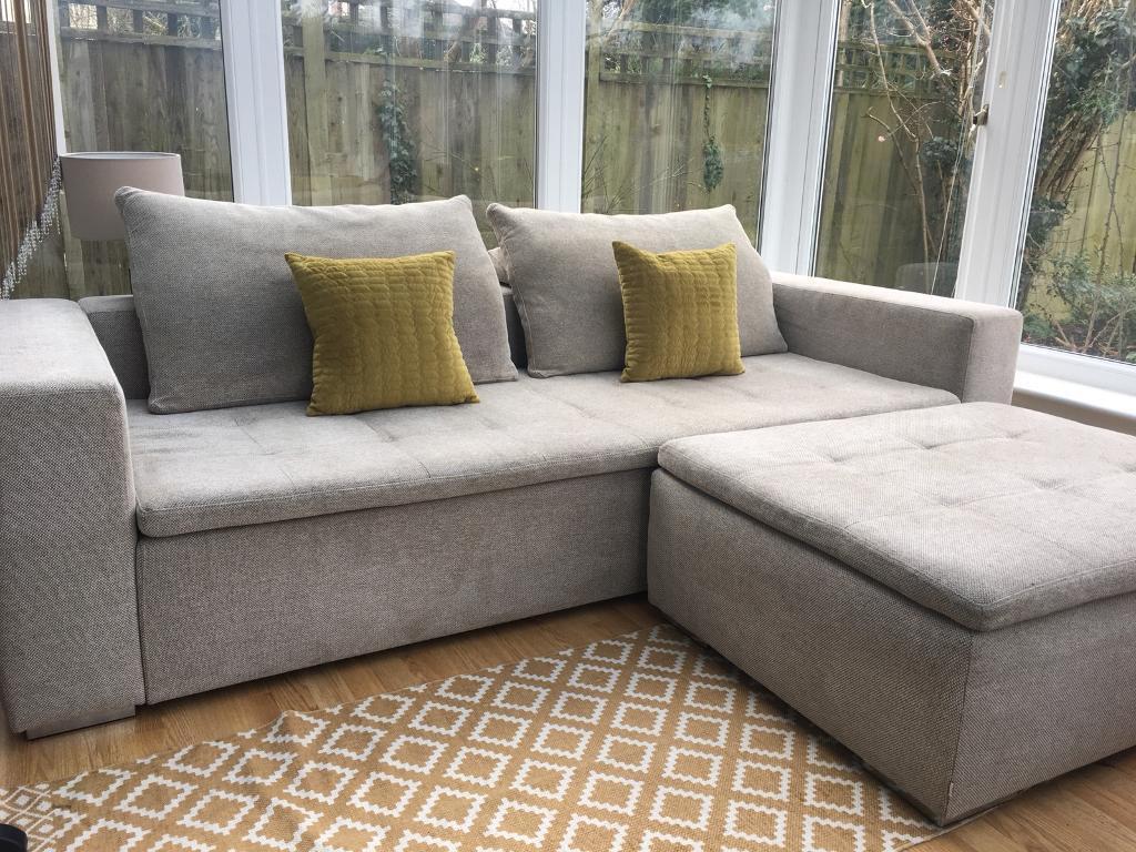 Bo Concept Mezzo Sofa With Footstool Rrp 3970
