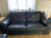 2 x leather sofa's 1 large and 1 small