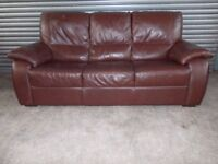 Chestnut Brown Leather 3-1-1 Suite (Sofa)