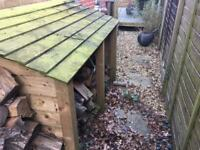 Log Store and Logs (suitable for Wood Burner)