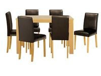 Brand New 6 Seater Oak Dining Set