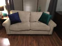 Large 3 Seater Laura Ashley Silver Grey Sofa - £249