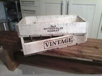 WOODEN CRATES LONG VEGATABLE TRAY STYLE