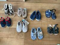 Baby boy shoes 3 months to 12 months.