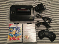 Original Sega Master System with games inc SONIC ORIGINAL GAME