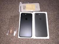 iPhone 7 plus 256GB three network boxed new condition matt black
