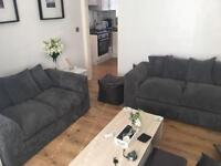3 + 2 Seater Sofa with Pouffe