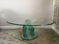 Glass coffee table new £350 will take £150
