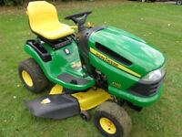 "John Deere X120 Ride on mower with 42"" edge deck 19 HP. engine -------------------------"