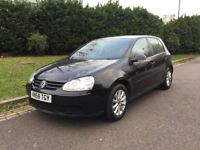 NEW MOT DONE TODAY, BARGAIN - VW 2009 GOLF 1.9 Match TDI 5dr DIESEL MANUAL 153k miles