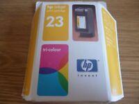 Genuine HP Inkjet Print Cartridge Tri-Color 23