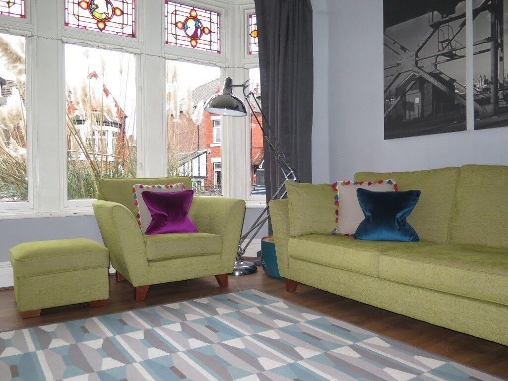 Green MARKS & SPENCER M&S 'Barletta' 3 Seater Sofa ...