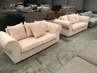 Brand new beige 3+3 seater sofa beds