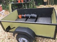 Newly painted green trailer for van, car vehicle