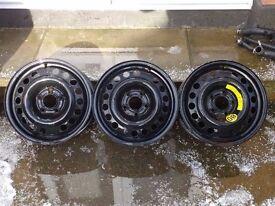 "Vauxhall 15"" 5x110pcd Steel Wheels Astra Meriva Vectra"
