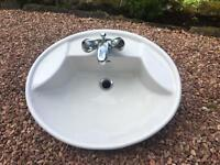Ideal Standard bathroom ceramic basin sink with tap