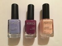 Trio KIKO nail polish new