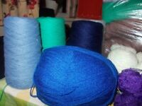 HUGE JOB LOT OF WOOLS DIFFERENT COLOR AND PLY.