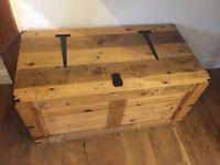 Beautiful large handmade solid pine storage chest
