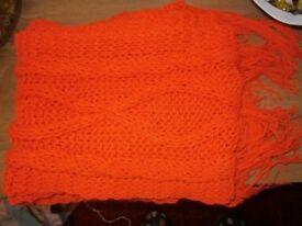 ladies orange scarf like new