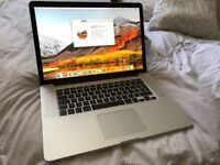 MACBOOK PRO 15.4 QUAD CORE i7 RETINA SSD HIGH SIERRA BLUTOOTH SIRI WEBCAM OFFICE USB 3/HDMI BOXED