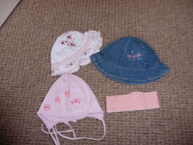 Hats for baby girl 3-6 mths