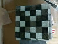 Glass ceramic tile mosaic wall