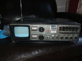 Sharp radio cassette TV player Collectable