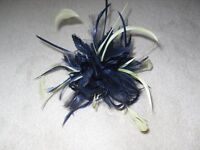 Fascinator by Jacques Vert in Navy and pale Lime Green.