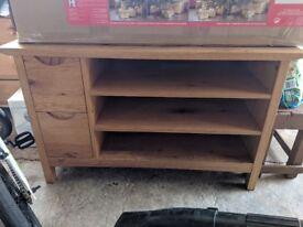 Large Oak TV/Entertainment unit. Bought from Housing Units.