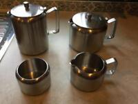 Old hall stainless steel tea service