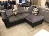 New black and grey corner sofa