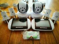TWO sets of Motorola MBP36 baby monitors and cameras