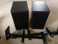 Pair of Sony speakers SS-CMX500 plus wall brackets