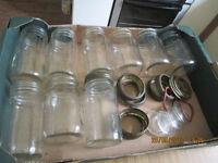 KILNER bottling and storage jars and lids.
