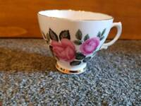 1 Floral Pink, Bone China Tea Cup